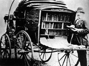 Venditore ambulante della Claudiana ottocentesca
