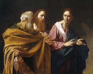 Caravaggio: La chiamata degli Apostoli Pietro e Andrea