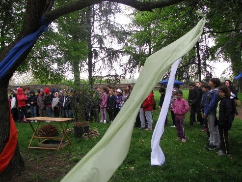 In piazza Virgiliana (aprile 2012)