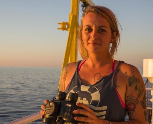 Pia Klemp, comandante della nave Sea Watch